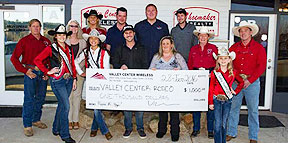 Valley Center Wireless Donates $1,000 to 2016 Stampede Rodeo