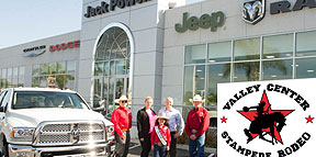Jack Powell Chrysler Jeep Dodge RAM Keeps Truckin' for the Stampede Rodeo